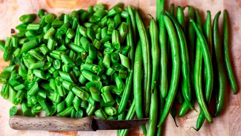 Las judías verdes en la dieta